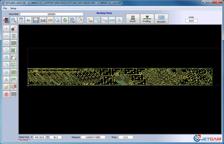 nesting software composite sheet metal